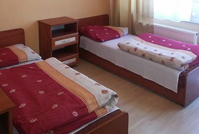 Łóżka w pensjonacie Zawiercie